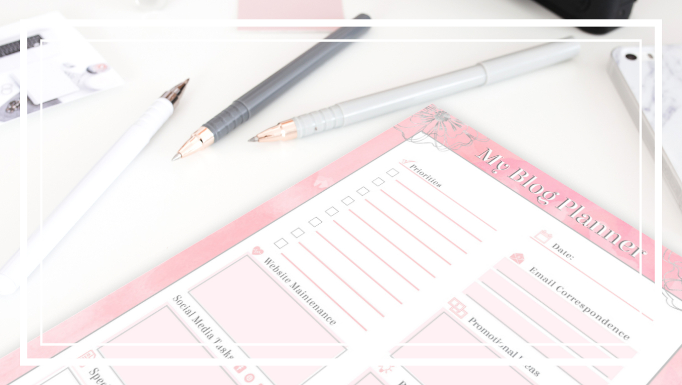 Blog Planner Worksheet by Eloquently Crafted